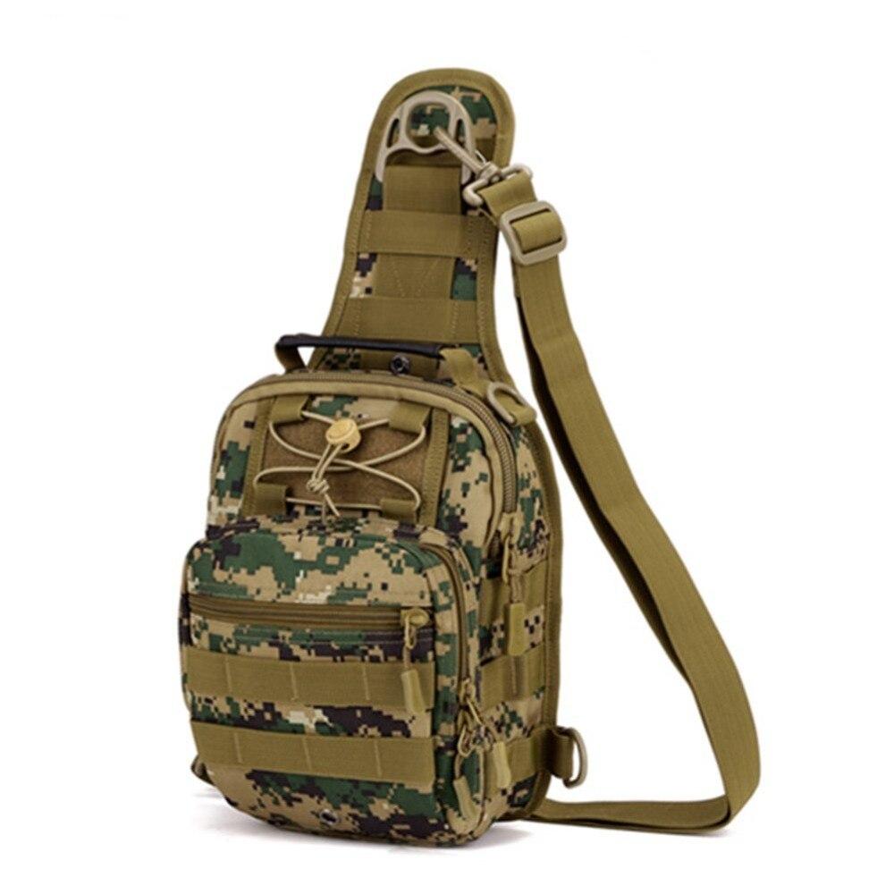 Prix pour Hommes Sacs de Toile En Plein Air Camping Escalade Taille Pack Militaire Tactique Épaule Randonnée Voyage Sac Pochette V2