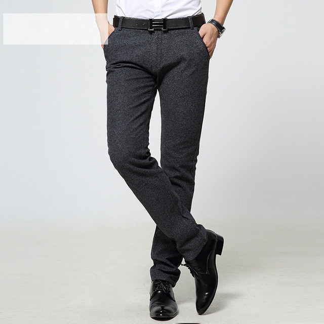 Plus size High Quality 2016 Fashion Casual men Pants Slim Fit Suit Pants Casual Pants business  trousers cotton pants