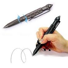 Plumas de Aluminio EDC Táctico Interruptor de Vidrio EDC Autodefensa Tactical Survival Pen Herramienta Que Acampa de Múltiples funciones de Escritura