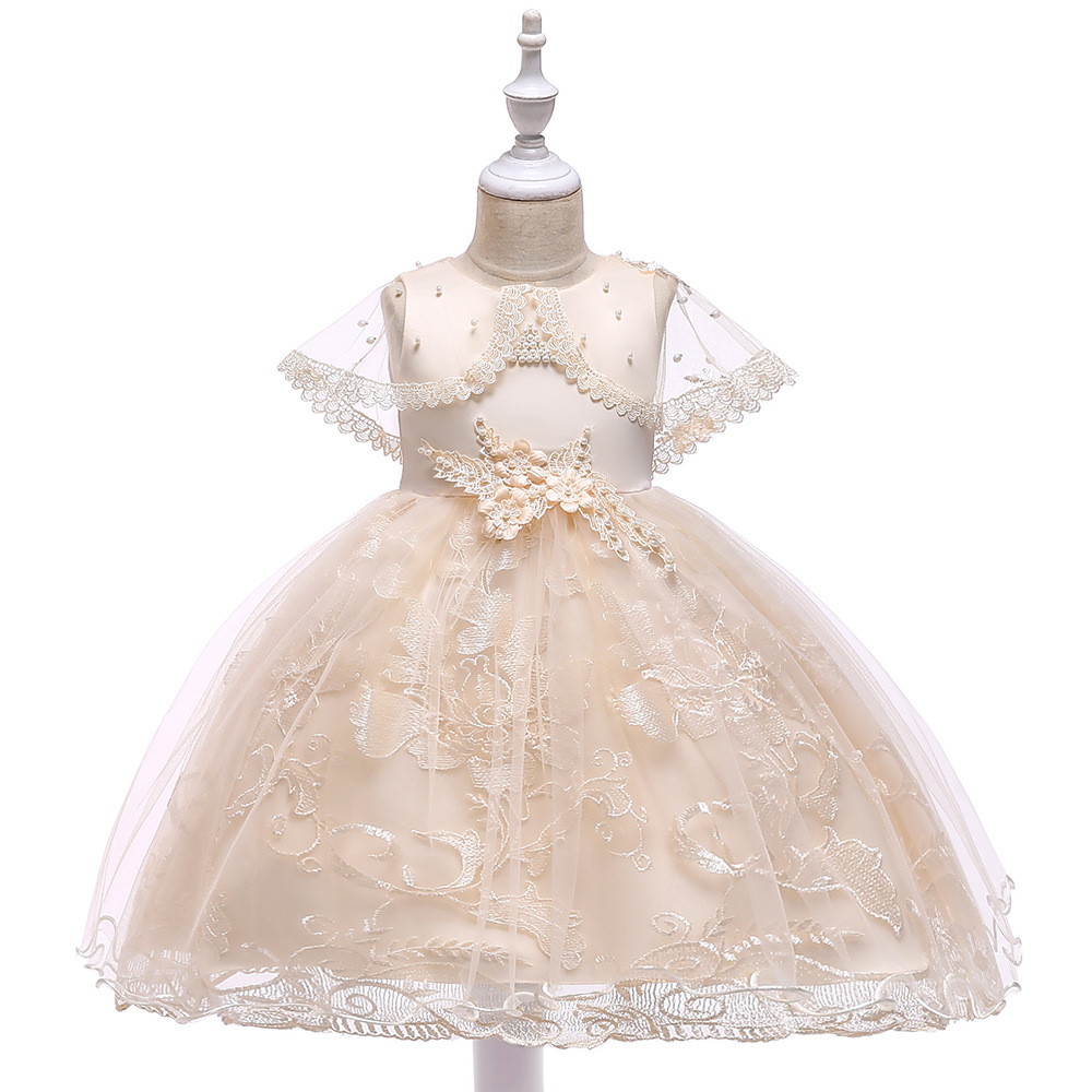 Ballgown Champagne  First Communion Gowns  Girls Formal Birthday Party Dresses Vestidos 2019