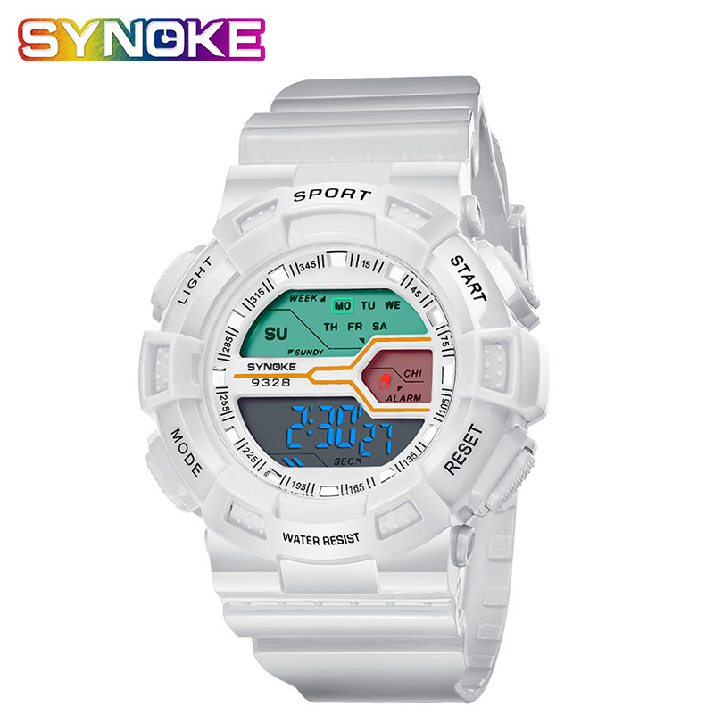 SYNOKE Children's Electronic Digital Watch Korean Version Multifunctional Waterproof Back Light Clock Boys Girls Kids Watches