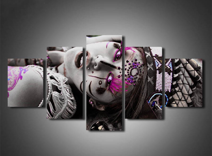 5 Piece Indians woman embroidery diamond,Diamond Painting Portrait,DIY Diamond Embroidery,Diamond Mosaic,full square rhinestones
