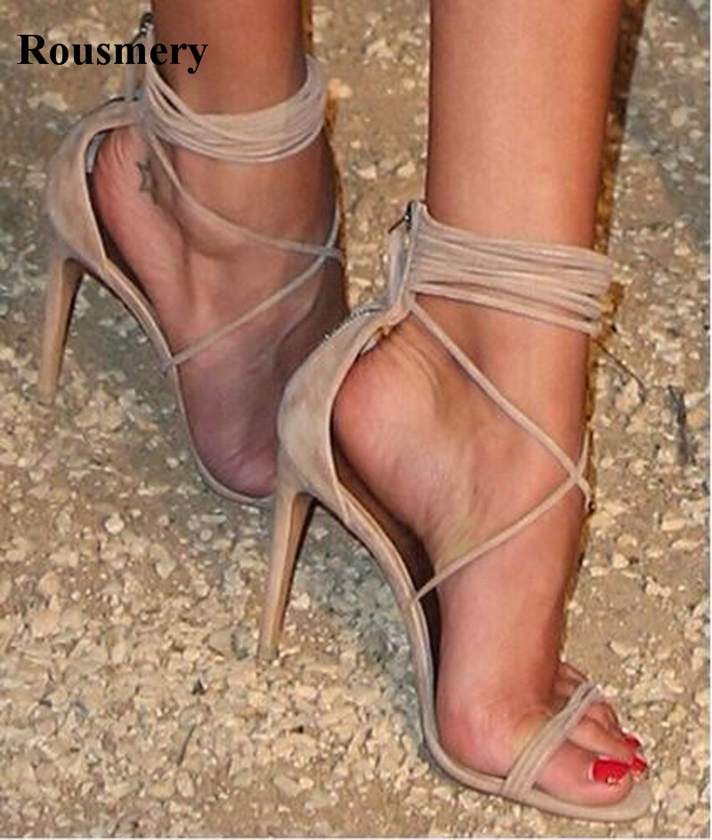 Strap Cross Women Fashion Open Toe High Heel Sandals Ankle Strap Wrap Gladiator Sandals Real Pictures Dress Shoes цена 2017