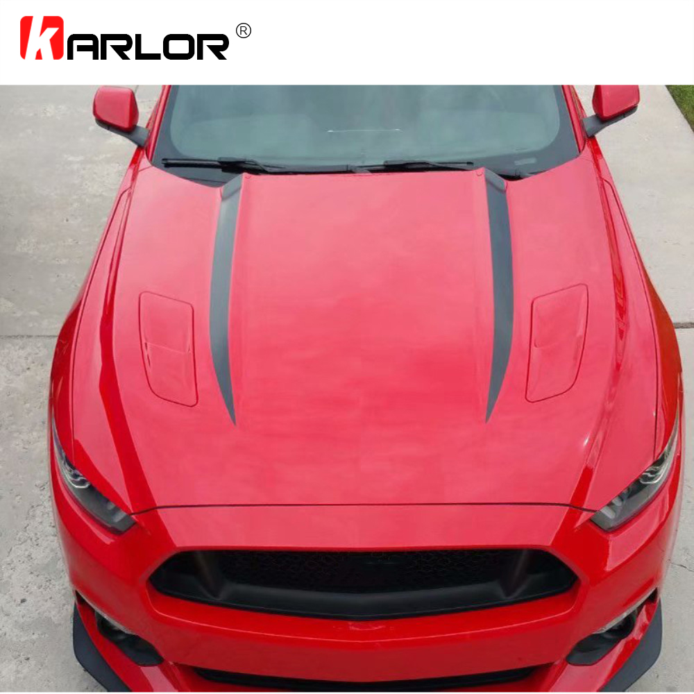 2Pcs/Set 115cm Long Car Hood Stickers Decals Vinyl PVC Decoration Automobile Car-styling Accessories For Ford Mustang 2015 2016