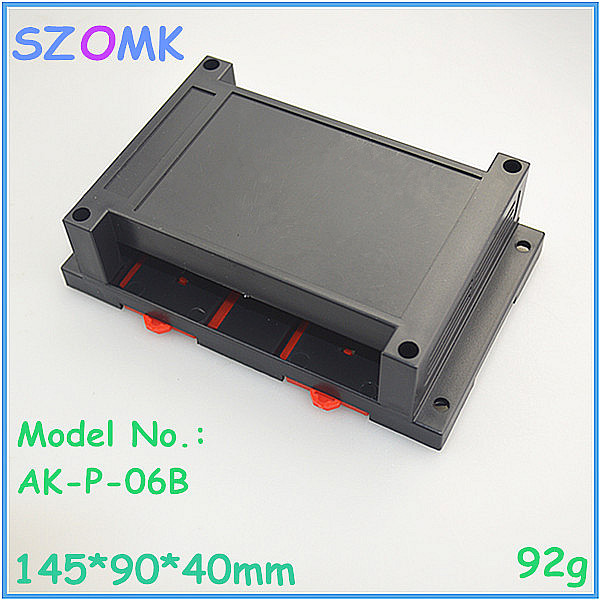 1 piece free shipping electronics din rail enclosures control din rail box for pcb din rial housing diy box 145*90*40mm electronic din rail box 1 psc free shipping din rail box case plastic enclosures abs junction housing electronics housing
