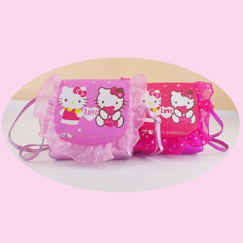 Women Kawaii Animals Cartoon Hello Kitty  Coin Purse Key kids Girls Wallet  Bags Pink Bag