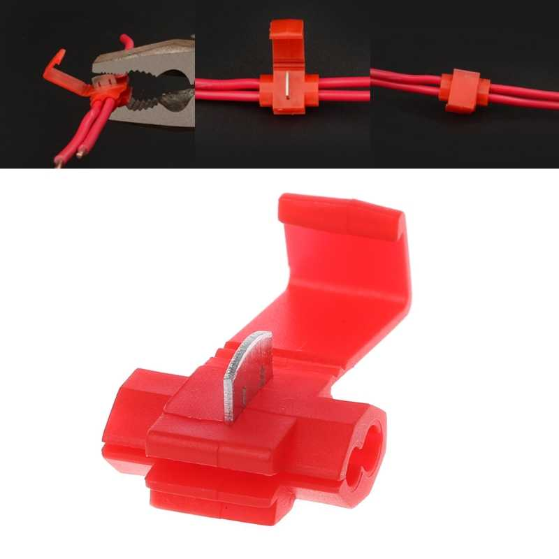 AUTO 10 pcs 2 Pin T Vorm Draad Kabel Terminals Crimp Scotch Lock Quick Splice Elektrische Auto Audio Kit tool
