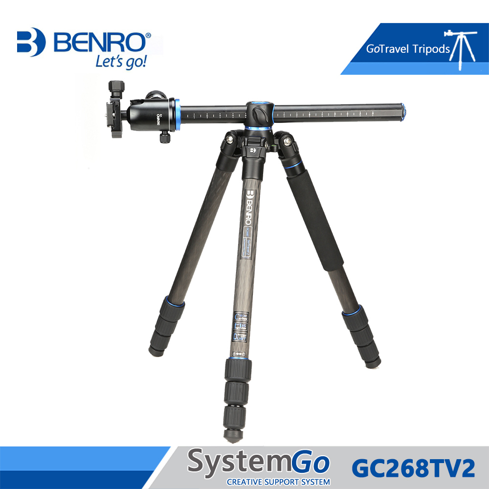 Benro GC268TV2 Tripod Carbon Fiber Tripods Monopod For Camera With V2 Ballhead 4 Section Max Loading