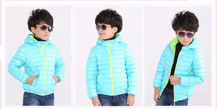 para baixo jaqueta criança 5-11 anos