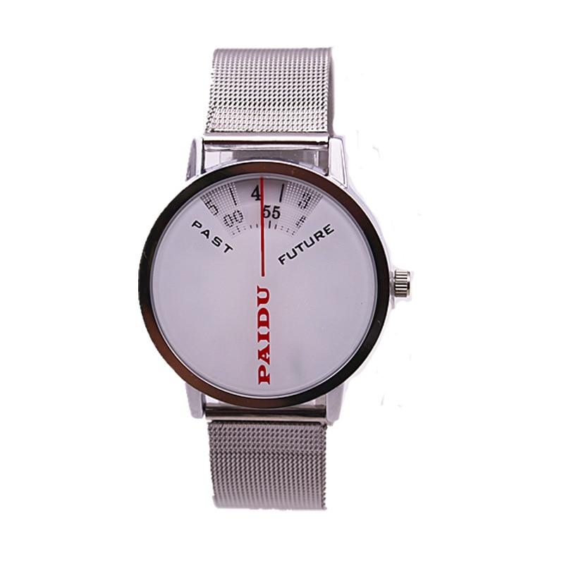 Fashion Brand Male Quartz Clocks Modern Turntable Dial Sports Watch Mesh Full Steel Fashion Casual Men Women Unisex Hour Relogio