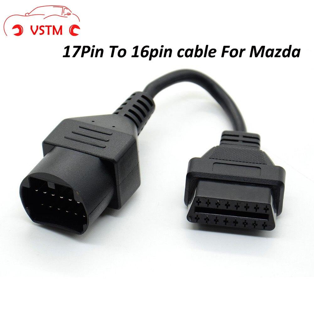 VSTM для Mazda 17Pin до 16Pin OBD2 OBD II Кабельный соединитель кабель для Mazda 17 pin Соединительный адаптер