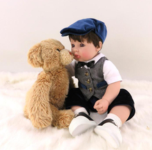 New 22″ Adora Toddler Reborn Boy Doll Soft Vinyl Boneca Bebe Doll Realistic Baby Doll Collectible Girls Doll Toys and Xmas Gifts