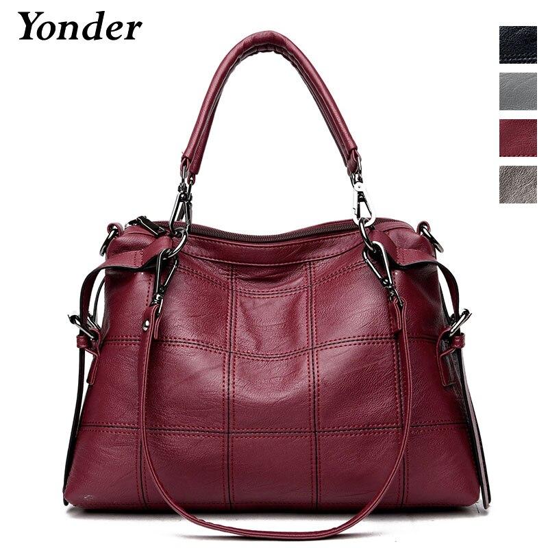 Yonder women handbag ladies genuine leather messenger bag women s big shoulder crossbody bag female large