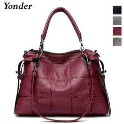 Yonder женская сумка женская из натуральной кожи сумка женская большая сумка через плечо женская большая Бостонская сумка серый/черный