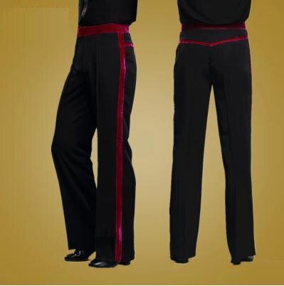 Mens Latin Dance Costume Adult Salsa/Samba/Tango Dance Pants for Men Latin Dance Trousers