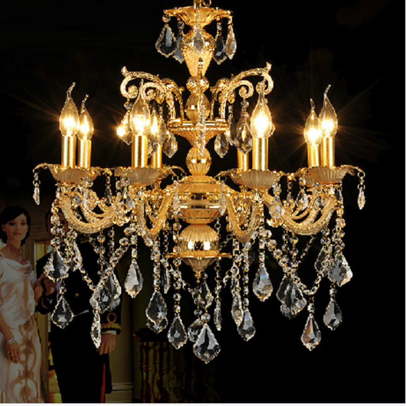 modern imported k9 crystal chandelier restaurant diningroom livingroom lights hotel villa bedroom crystal chandelier gold lamp k9 puppy gold