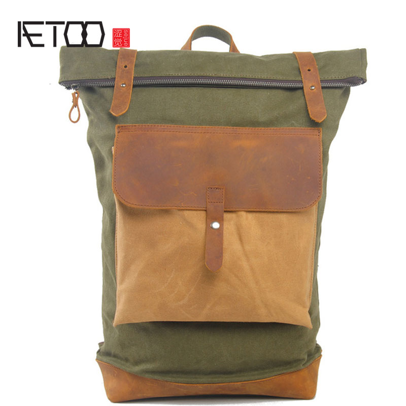 AETOO New England retro style men and women shoulder bag travel backpack computer bag college wind bag new tide package suede women bohemian wind retro backpack pu chain men and women lovers tassel bag