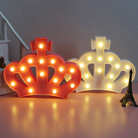 Imperial Crown Fairy Nightlight ABS Plastic Led Table Desk Lamp Room Atmosphere Wedding Decoration Creative Gift