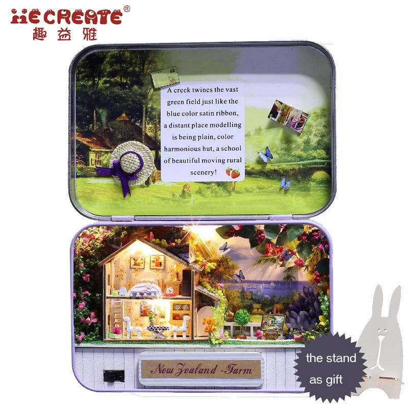 Diy Doll House Kit con Tin Box Theatre Dollhouse Miniatura Juguetes - Muñecas y peluches - foto 4