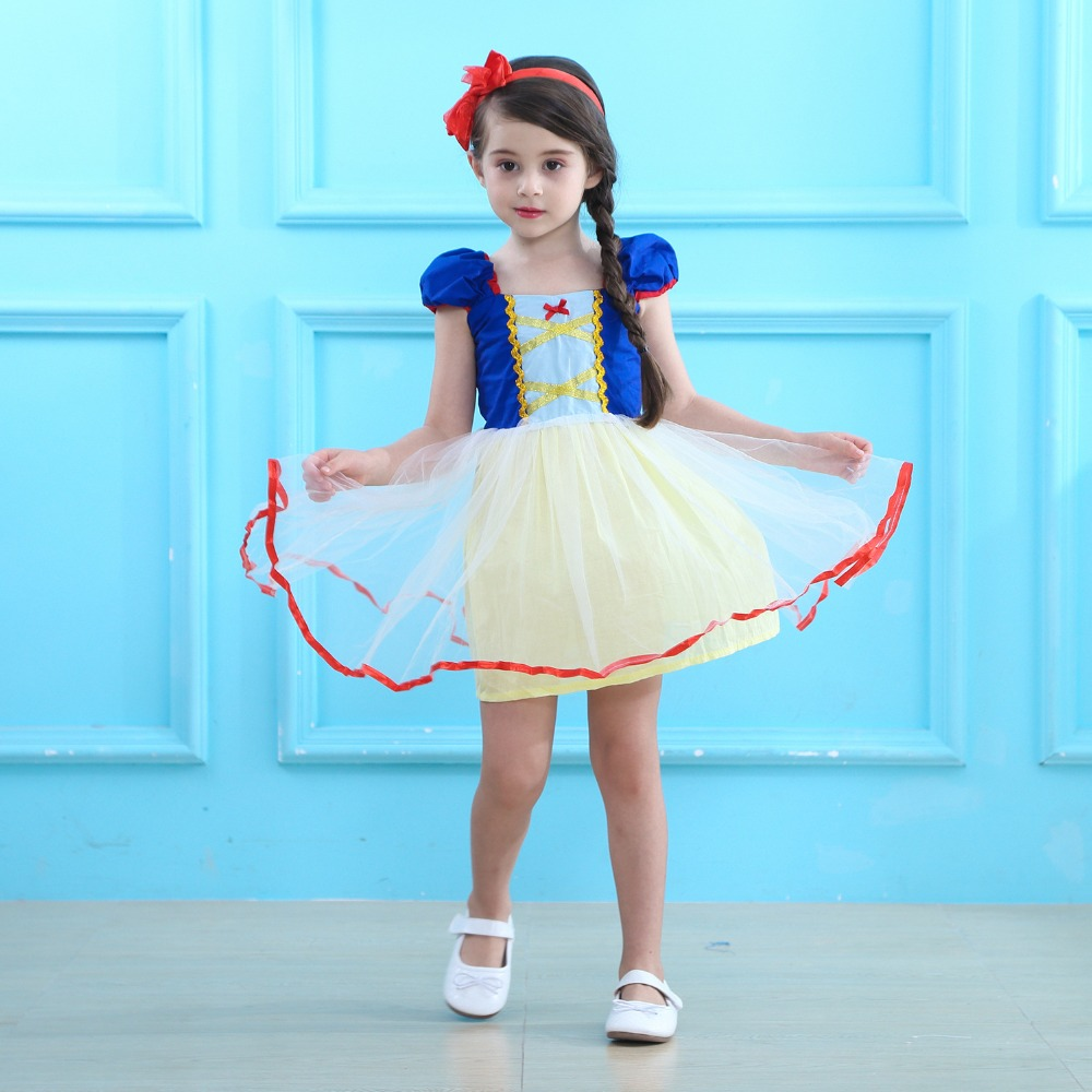 Girls Clothing Snow White Princess TuTu Dress Cosplay Costume Kids Clothes Rapunzel Aurora Halloween Costume Cinderella Dresses