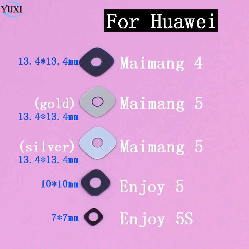 YuXi New Rear Camera Glass Lens Cover Repair part For Huawei Maimang 4 5 Enjoy 5 5S