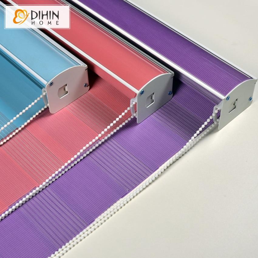 DIHIN HOME New Upgarded Type High Quality Modern Zebra Blinds Rollor Blind Curtain Custom Made Blinds