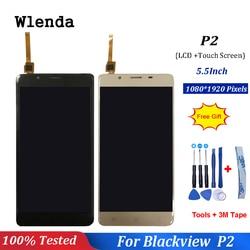 Dla Blackview P2/P2 Lite ekran LCD + 5.5 calowy dotykowy szklany digitizer wymiana zespołu 1920X1080P w Ekrany LCD do tel. komórkowych od Telefony komórkowe i telekomunikacja na