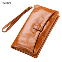 Women Wallets Card Holder Zipper Coin Pocket Fashion Purse Women Natural Leather Portfolio Female Genuine Leather Wallet