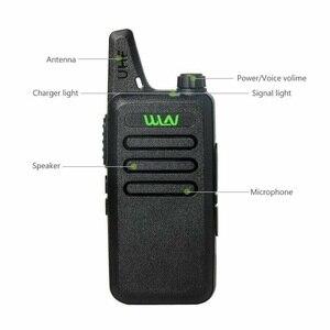Image 2 - 4 pces wln Kd C1 mini walkie talkie portátil silm rádio sem fio handheld kdc1 c2 rádio em dois sentidos transceptor hf ham estação de rádio