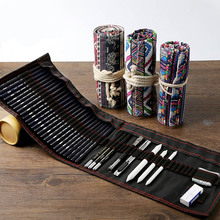 Bgln национальный ветер хлопок карандаш занавес 36 отверстий карандаш для эскизов Набор Карандаш карман папка для квитанций футляр для чеков канцелярские творческие принадлежности
