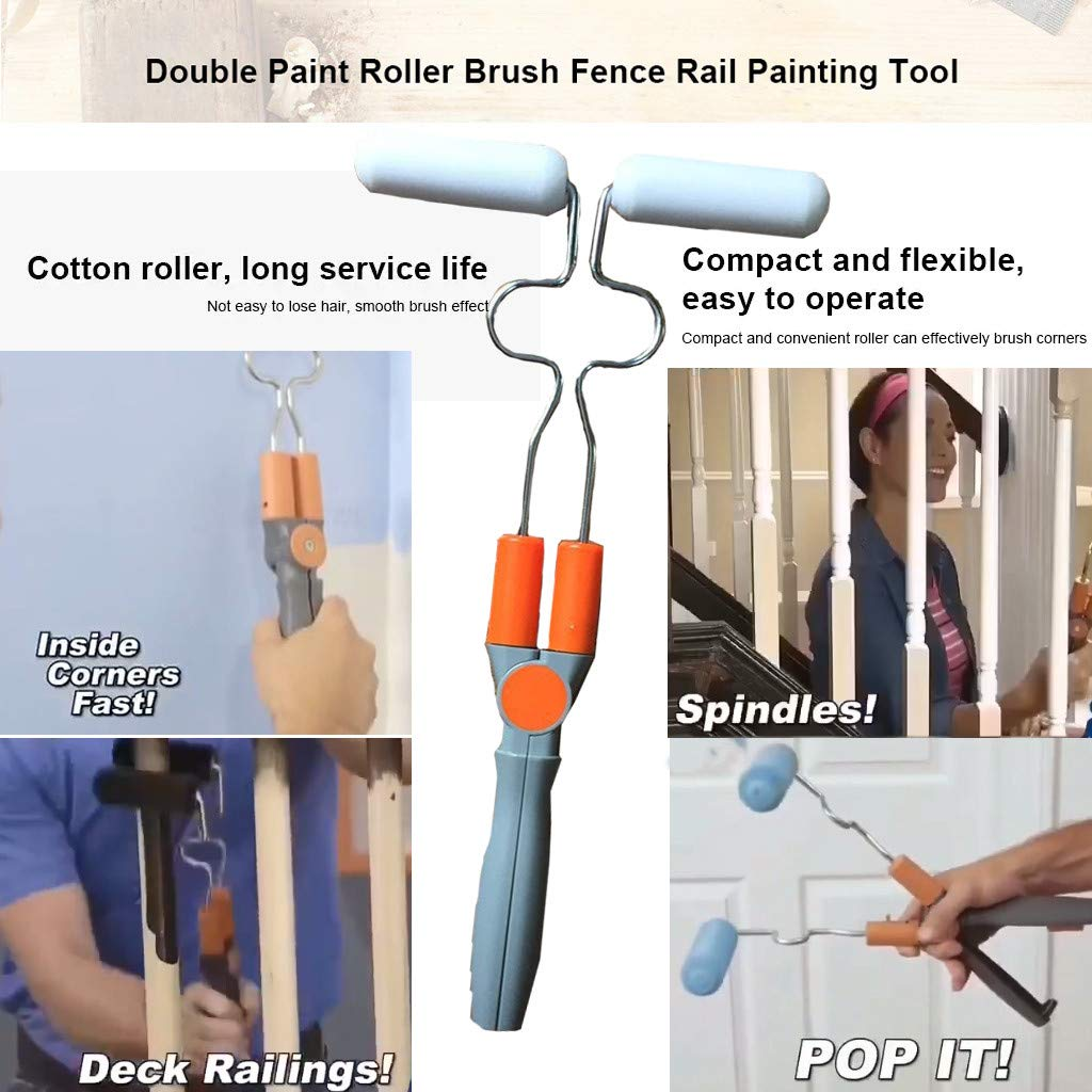 Speed Painter Double Sided Paint Roller Brush Painting Brushes Cylindrical Corner Painting Home Improvement Tools Speed