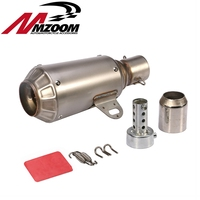 FREE SHIPPING titanium Stainless Steel 51mm universal exhaust motorcycle Slip On Exhaust Pipe System Silencer Muffler