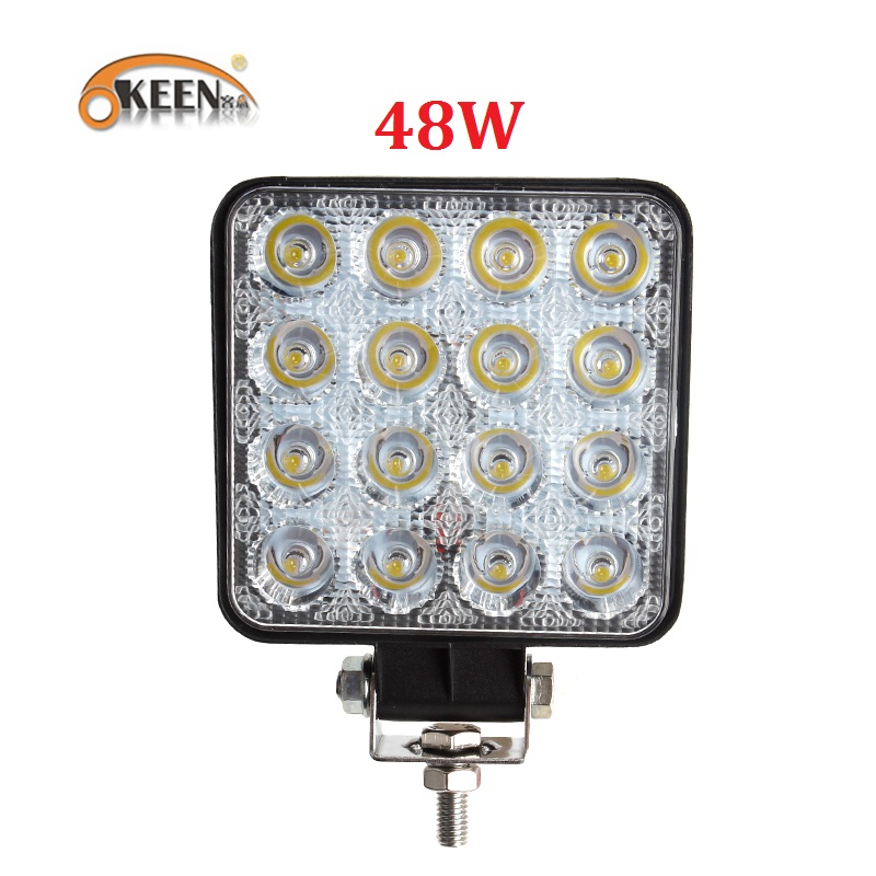 OKEEN New Car 4inch LED Work Light Bar 12V Spot 48W 18W 27W LED Work Light 4WD Truck Tractor Boat Trailer 4x4 SUV DRL Fog LampOKEEN New Car 4inch LED Work Light Bar 12V Spot 48W 18W 27W LED Work Light 4WD Truck Tractor Boat Trailer 4x4 SUV DRL Fog Lamp