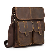 New Fashion Quality Leather Multifunction Male Casual messenger bag Satchel cowhide 10