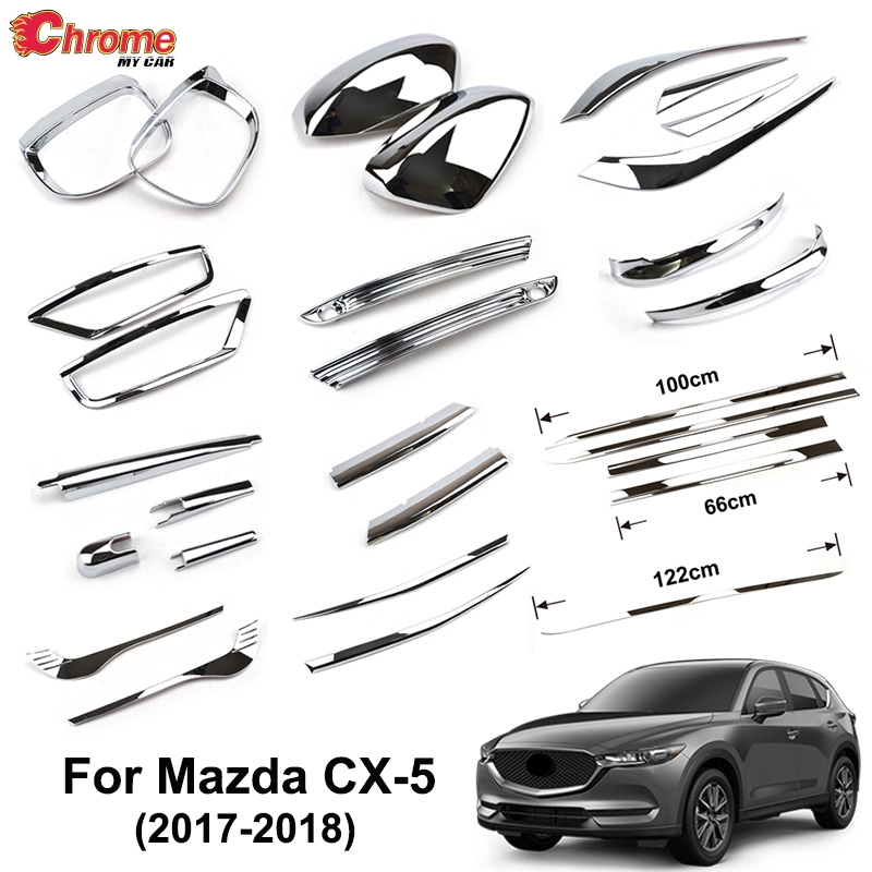 For Mazda CX 5 CX5 KF 2017 2018 2019 Chrome Front Rear Fog Light Taillight Side Mirror Trim Cover Strip Decoration Car Styling-in Chromium Styling from Automobiles & Motorcycles