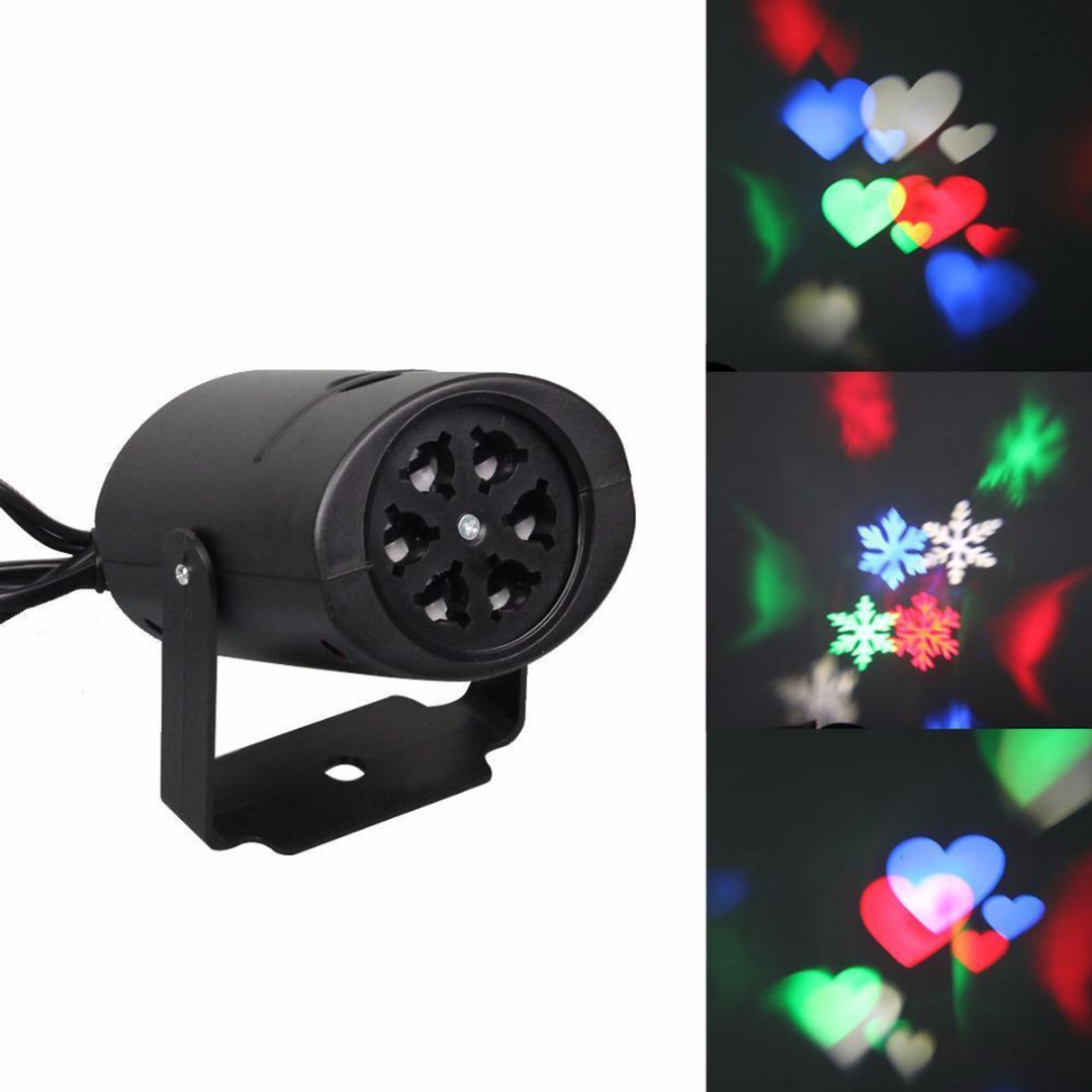 2 Patterns Xmas Laser Snowflake LED Light Christmas Outdoor Moving Projector Lamp Party Decor Mayitr New Arrival EU/US Plug free shipping us plug outdoor ip65 waterproof stage light christmas lights xmas light projector christmas uk us eu plug xx
