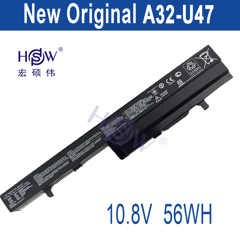 HSW New   A32-U47 Laptop Battery For A41-U47 A42-U47 U47 U47A U47C Q400 Q400C R404 R404VC bateria akku