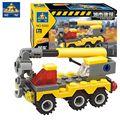 Kazi 52 Pcs Caminhão Guindaste de Construção Da Cidade blocos Montados Brinquedos Modelo Para Criança P673