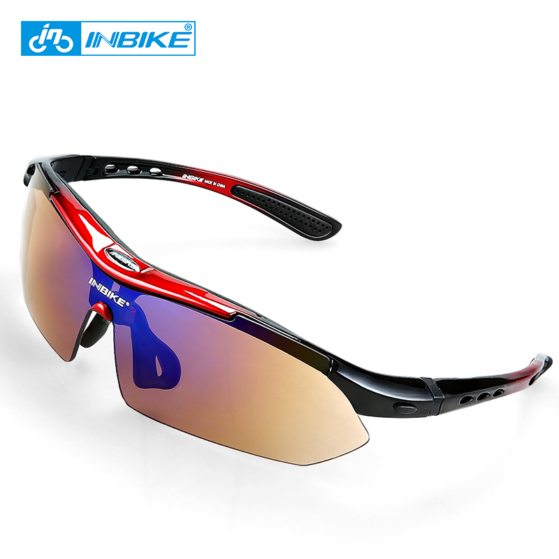 INBIKE Polarized Sports Men Sunglasses MTB Road Cycling Glasses Mountain Bike Bicycle Riding Protection Goggles Eyewear 5 Lens coolchange polarized sports sunglasses cycling glasses mountain bike outdoor bicycle protection eyewear goggles 5 lens accessory
