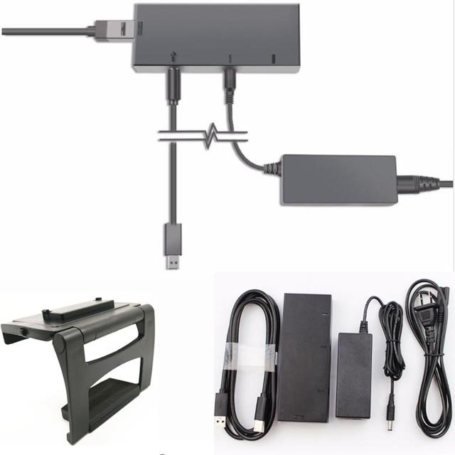 新バージョン Kinect 2.0 センサー AC アダプタ電源 xbox one S/X/Windows PC 、 XBOXONE スリム/× Kinect アダプター + テレビマウント