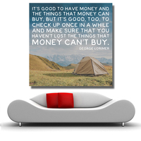 QKART Money can't Buy Inspiritional Quotes Posters and Prints Oil Painting on Canvas Art Prints for Living Room Home Decor