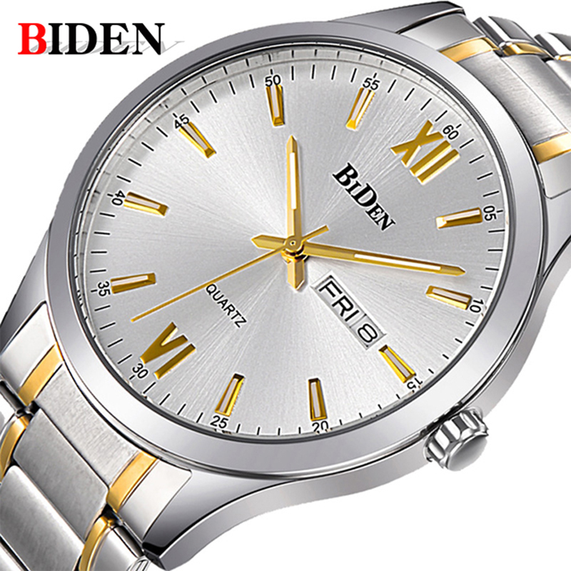 Men Watch BIDEN Top Brand Luxury Man Business Wristwatch Fashion Casual Military Sports Date Week Quartz Watch relogio masculino