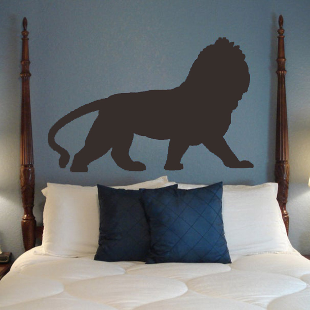 Lion Decal Wall Vinyl Sticker Family Kids Room Mural America Africa Jungle King Pride Cub Zoo Animals Playroom Wall Art C228 image