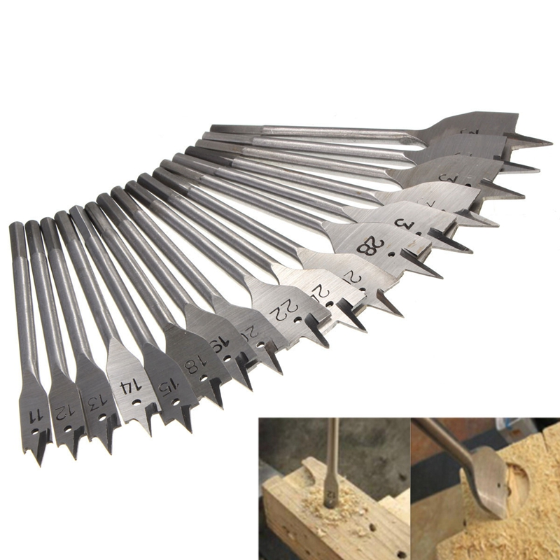 17Pcs 11-38MM Machine Flat Wood Drill Bits - All Metric Sizes Spade Bit Wallated High Quality сумка kate spade new york wkru2816 kate spade hanna