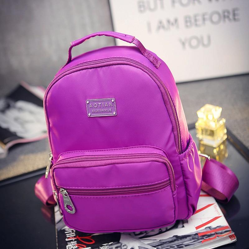 Japan Korean Style Women Backpack Waterproof Nylon Double Shoulder Bags Teenage Girl Daypack Brand Casual Travel