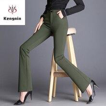 Весна лето размера плюс S-5XL Женские брюки с высокой талией меньше расклешенные брюки европейский стиль эластичные женские Капри