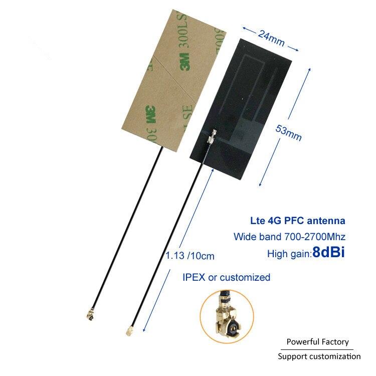 Factory Direct 700-2700mhz 3M Adhesive GSM 3G 4G LTE 8dbi FPC Flexible Ufl Internal Antenna 10PCS / Batch