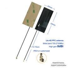 Nhà Máy Sản Xuất Trực Tiếp 700 2700 MHz Keo 3M GSM 3G 4G LTE 8dBi FPC Linh Hoạt Ufl Nội Bộ ăng Ten 10 Chiếc/Mẻ