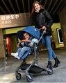 2017 babysing novo peso leve alta paisagem carrinho de guarda-chuva dobrável, reclinar totalmente carrinho de bebê, carrinho de bebé, carrinho de bebê