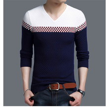 Left Rom Knit Sweater Long Sleeve Men 2017 Winter New Thicker Male V Collar Cap Sweater Men's Business Fashion Casual Size S-3XL